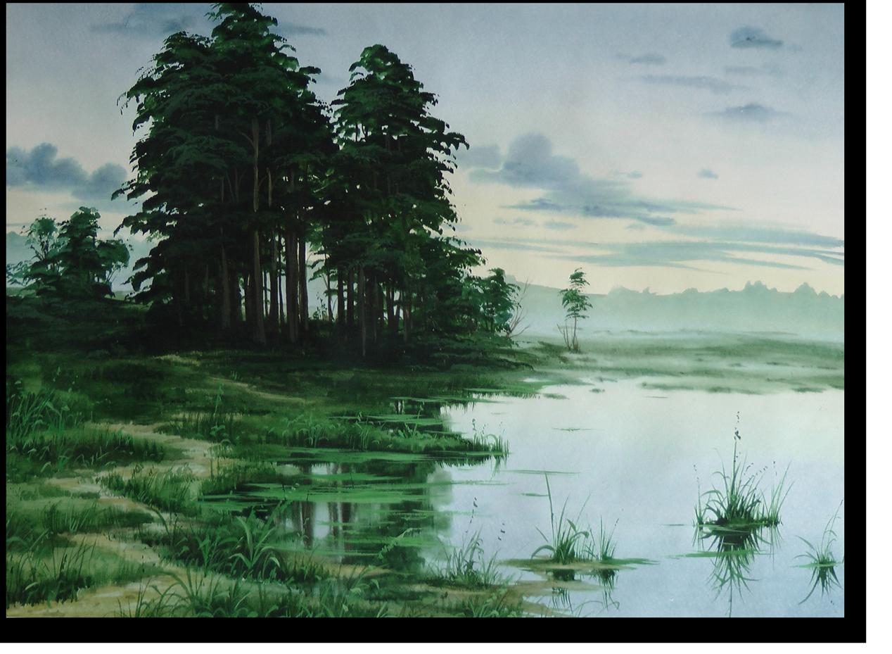 Пейзажи с пошаговым рисованием